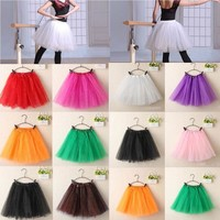 USA Women's Adult Dancewear Tutu Mini Ballet Pettiskirt Princess Party Skirt