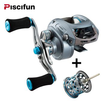 Fishing Baitcasting Reel Extra Lightweight Spool 7BB 7.3: 1 179g Right or Left H