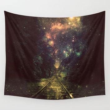 Train Tracks Wall Tapestry by 2sweet4words Designs