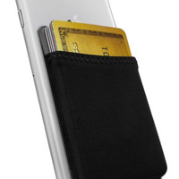 Silk Stick-on Phone Wallet - Sidecar Slim Expandable Credit Card Pocket - Fits i