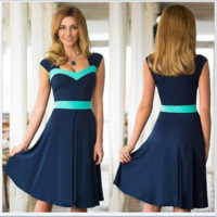 Color Block Mid Dress B0014470