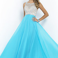 High Neck A-Line Gown by Blush
