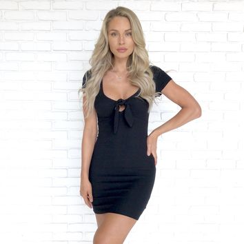 Call On Me Knotted Bodycon Dress