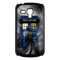Tardis Doctor who in the cloud Samsung Galaxy S3 mini black/white Case