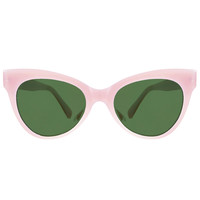 Square Cat Eye Sunglasses / Pink