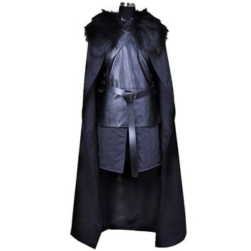 Cosplay Costume Jon Snow Cosplay Knight Role Play Costume Halloween