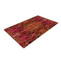 "Nikposium ""Summer"" Red Orange Woven Area Rug"