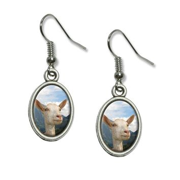 The Majestic Goat  Dangling Drop  Earrings