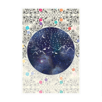Beautiful Starry Night Art Print