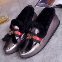 Gucci fashion leisure set foot Maomao shoes
