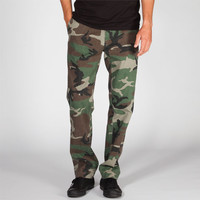 Rothco Mens Slim Chinos Woodland Camo  In Sizes