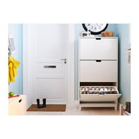 STÄLL Shoe cabinet with 3 compartments - white  - IKEA