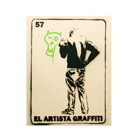 EL ARTISTA GRAFFITI 11x14 Graffiti Pop Art and Mexican Culture Inspired Loteria Artwork on Canvas Original Painting