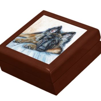 Keepsake/Jewelry Box - German Shepherd Dog - Lacquer Box