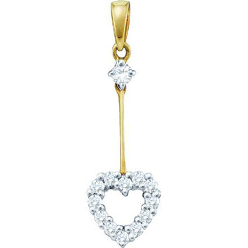 Diamond Heart Pendant in 14k Gold 0.21 ctw