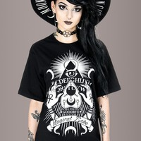 Boyfriend Fit Magical Babe Ouija Board Witchy Tee