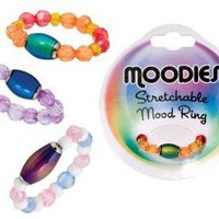 Girls Moodies Stretch Beaded Mood Ring Jewelry by DM Merchandising