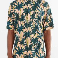 Your Neighbors Rayon Palm Tree Button-Down Shirt