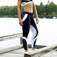 Women's Fashion Winter Slim Gym Yoga Geometric Pants [11843099983]