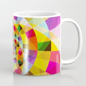 Colorful Abstract Swirly Tune Design (Fancy Fresh And Modern Hippy Style) Mug by Jeanette Rietz