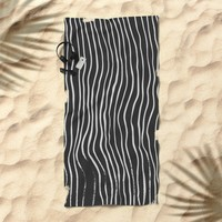 minimal movement Beach Towel by duckyb