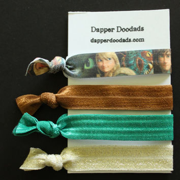 How to Train Your Dragon inspired Astrid No-Pull Hair Ties Bracelet Set