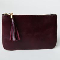 Burgundy Leather Clutch,Purse,Wallet,Pouch