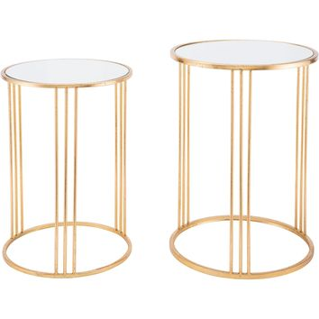 Gold Magri Nesting Round Tables (Set of 2)