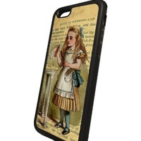 Alice in wonderland Drink me iPhone 6 Black Soft TPU slim rubber case