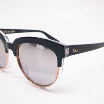 Dior Sight 1 K4X96 Black Crystal Black Sunglasses