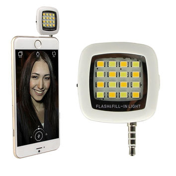 Universal Portable Mini 16 LED Night Selfie Dimmable Flash Cellphone Camera Flash