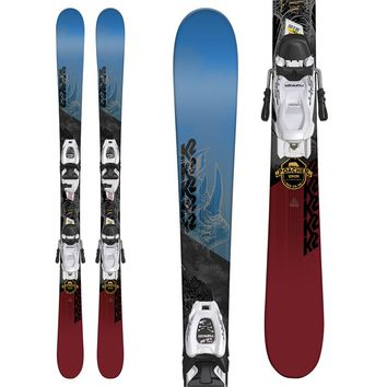K2 Poacher Jr. Skis + Marker FDT 7.0 Bindings - Boys' 2018