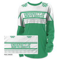University of North Dakota Women's Long Sleeve Ugly Sweater Ra Ra Shirt