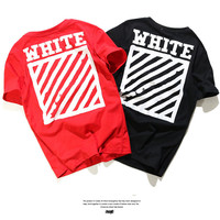Short Sleeve Couple Casual T-shirts [10176388039]