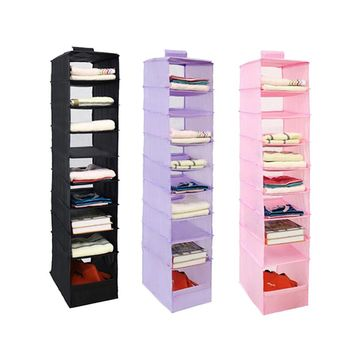 9 Coats Oxford Hanging Box Organizer Underwear Sorting Clothing Shoe Storage Box Door Wall Closet Organizer Closet Organizer Bag