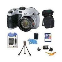 General Electric Power Pro X500-WH 16 MP with 16GB Camera Bundle (White)