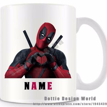 Deadpool Dead pool Taco Personalized  funny travel novelty mug Ceramic white coffee tea milk mug cup Custom Mothers day Birthday Easter gifts AT_70_6