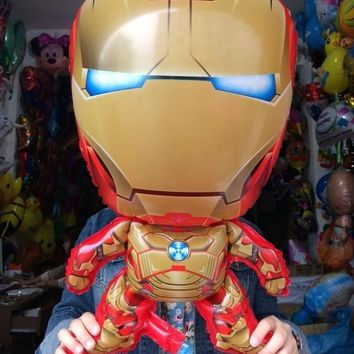 Hot Sale IRONMAN Cartoon Balloon Shaped Cute Baby Wedding Birthday Party Favorite Must-gold Iron Man Party Decorations Balloon