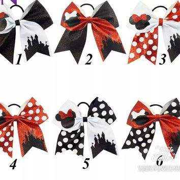 PRE-ORDER - DISNEY GLITTER CHEER BOWS - CLOSES 06/22