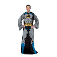 Batman-Batman In Black Adult Comfy Throw Blanket with Sleeves