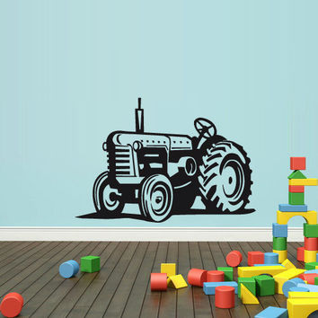 Wall Decal Vinyl Sticker Decals Bedroom Nursery Boys Art Decor Tractor Loader bulldozer Kids (z2650)