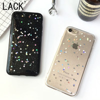 LACK Luxury Bling Glitter Phone cases For iphone7 Fashion Love Heart Shining Powder Back Cover For iphone 7 6 6S Plus Fundas NEW