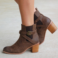 Buckle Up Bootie -Chocolate Brown