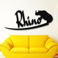 Vinyl Wall Decal Rhino African Animal Nature Tribal Stickers Unique Gift (ig222)