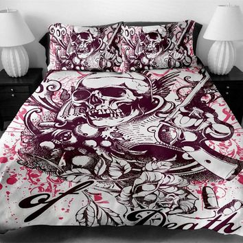 Fanaijia 3D printed skull Bedding Set King size sugar skull Print Duvet Cover set with pillowcase AU Queen Bed best gift bedline