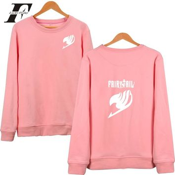 2017 Fairy Tail Japanese Anime Capless  Winter oversized Hoodie Men women tracksuit tumblr Sweatshirt Autumn Cartoon Clothes 4XL