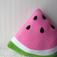 Watermelon Slice Pillow, Fruit Pillow, Food Pillow