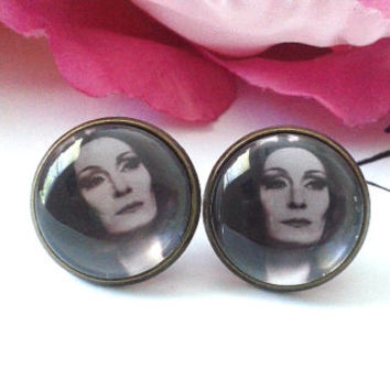 Mother Addams Stud Earrings - Studs - Earrings - Fake Plugs - Plugs - Faux Plugs - Gothic Earrings - Goth - Goth Studs - Goth Plugs