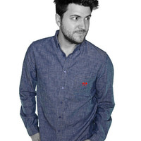 DEFEND INDUSTRY SHIRT - INDUSTRY SHIRT / CHAMBRAY BLUE /