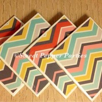 Multicolored Chevron Coaster Set from Sweet Pepper Parties
